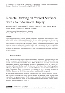 Remote Drawing on Vertical Surfaces with a Self-Actuated Display