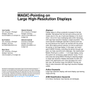 MAGIC-Pointing on Large High-Resolution Displays