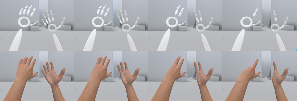 """Where's Pinky?"": The Effects of a Reduced Number of Fingers in Virtual Reality"