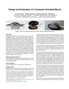 Design and Evaluation of a Computer-Actuated Mouse
