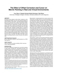 The Effect of Offset Correction and Cursor on Mid-Air Pointing in Real and Virtual Environments