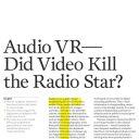 Audio VR: Did Video Kill the Radio Star?