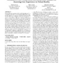 The Extent of the Proteus Effect as a Behavioral Measure for Assessing User Experience in Virtual Reality