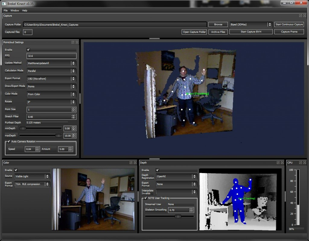 Biped Motion-Capturing for 3ds max with the Kinect (1) | | valentin